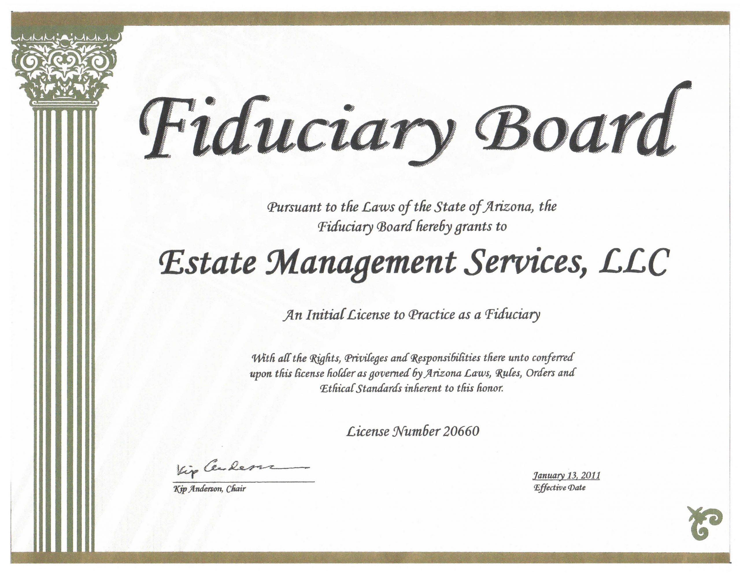 Fiduciary License